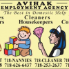 NANNY HOUSEKEEPING 718-BABYSIT 718-NANNIES 718-CLEANER